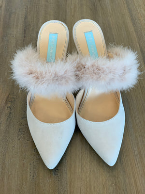 Betsy Johnson Feather Blue Bottoms - Showroom56