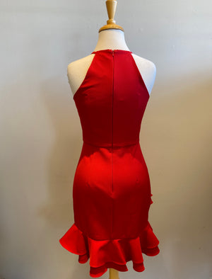 Minuet Halter Frill Dress - Showroom56