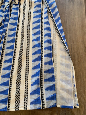 Elan Aztec Blue Pants - Showroom56