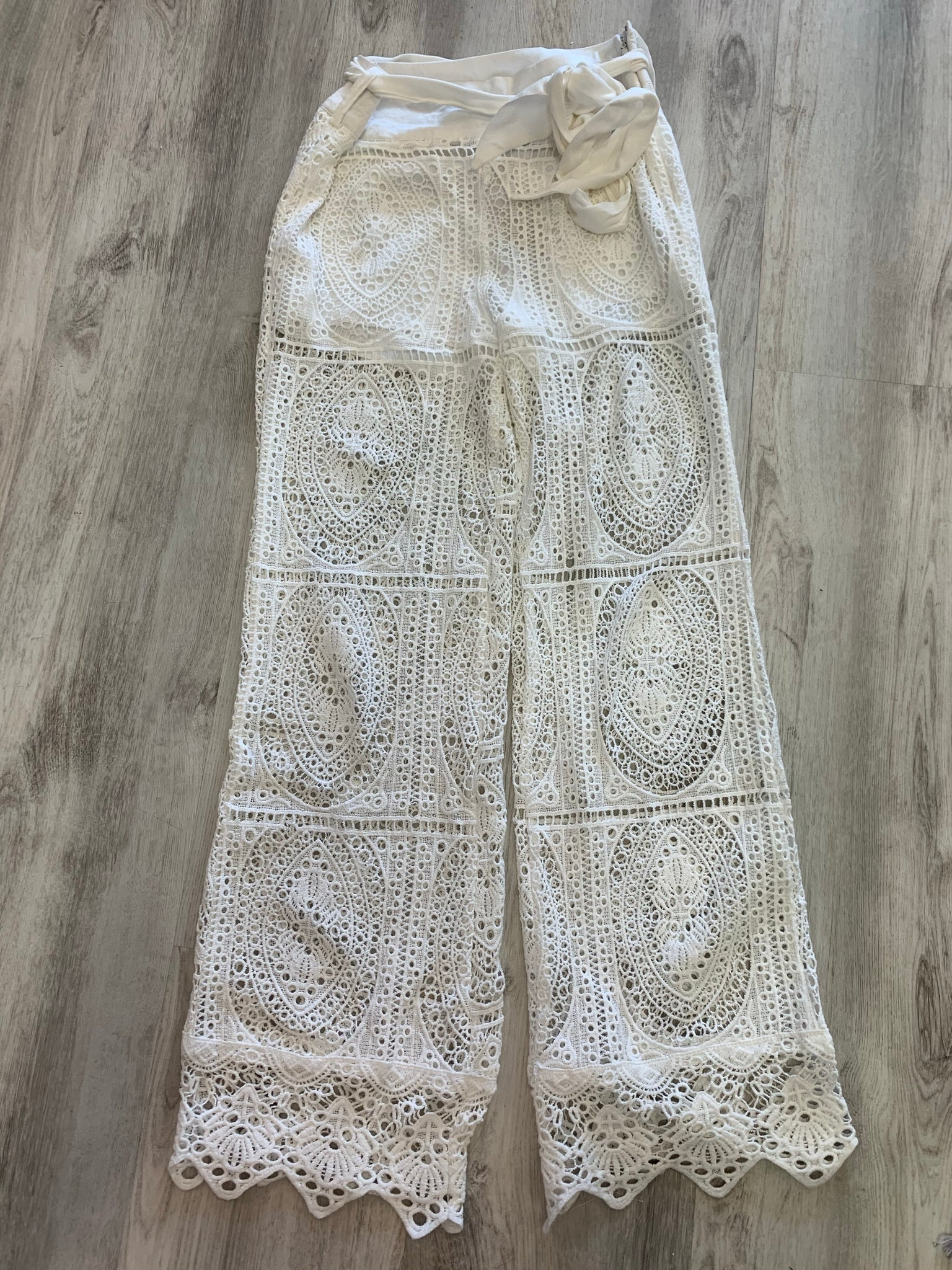 Surf Gypsy Crochet Tie Detail Pant - Showroom56