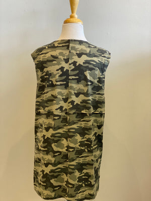 Sleeveless Camo Top