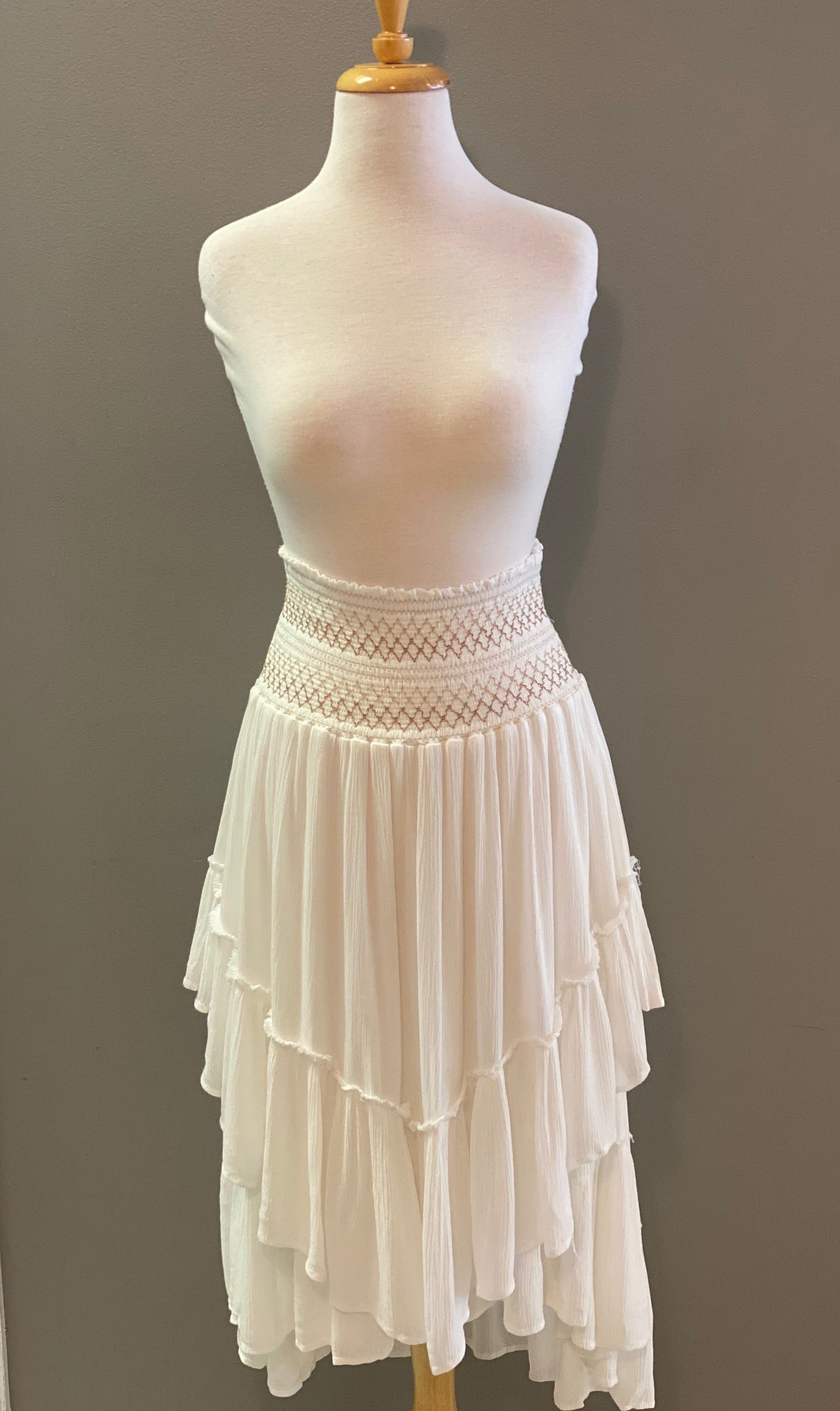 Vintage Havana Smocking Convertible Skirt - Showroom56