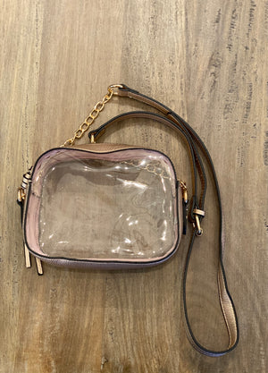 Rose Gold Clear Purse