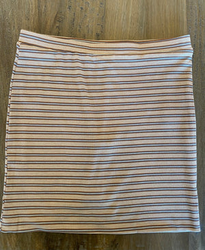 Striped Rib Mini Skirt