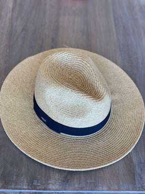 Scala Paper Braid Fedora With Ribbon - Showroom56