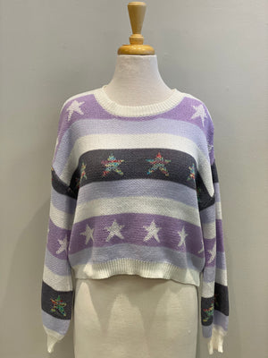 Pastel Stars & Stripes Sweater