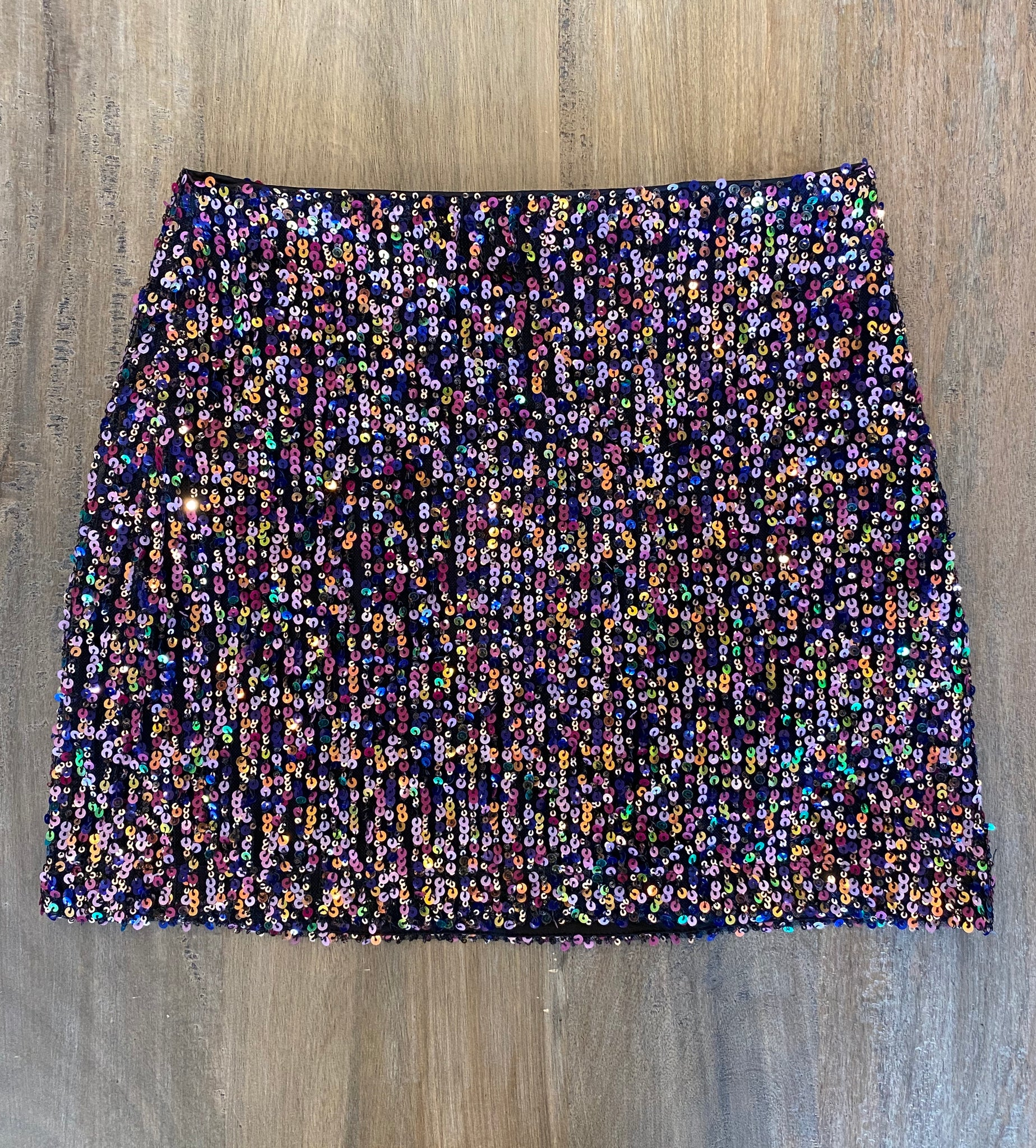 August Apparel Multi Sequin Mini Skirt - Showroom56