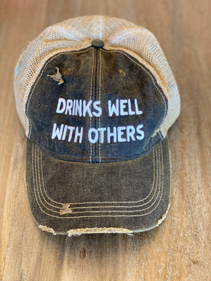The Original Retro Brand Drinks Well With Others Trucker Hat - Showroom56
