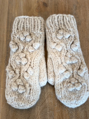 Look By M Little Snowball Cable Mittens - Showroom56