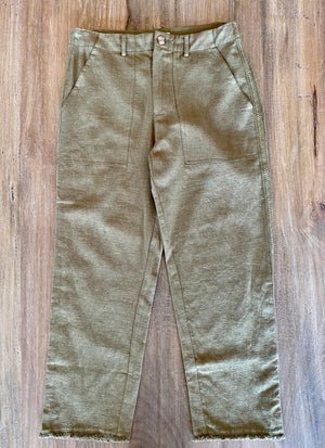 Blu Pepper Frayed Woven Pants - Showroom56