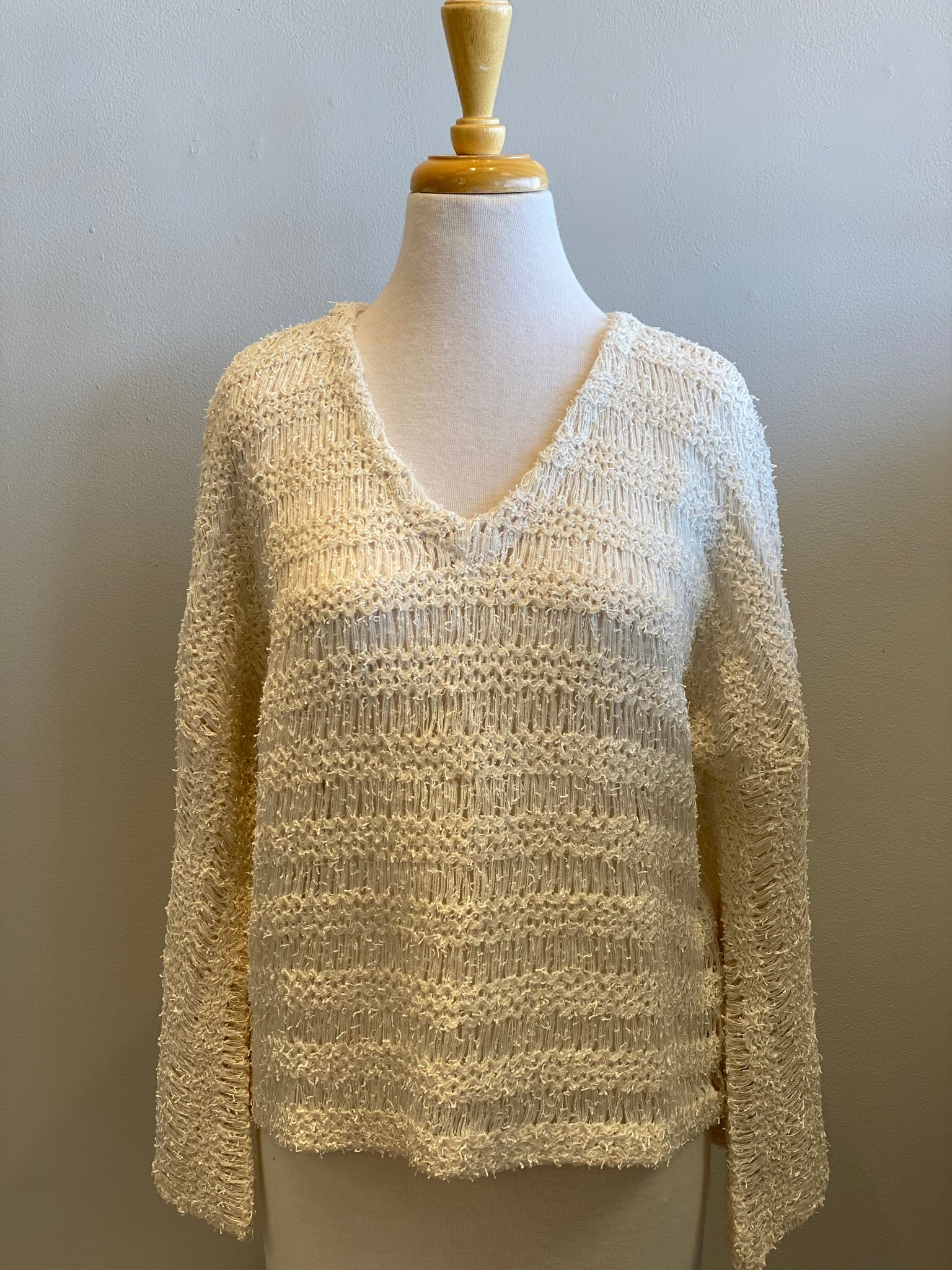 Oatmeal Bell Sleeve V-Neck