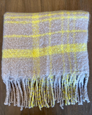 Free People Prep Brushed Plaid Blanket Scarf - Showroom56
