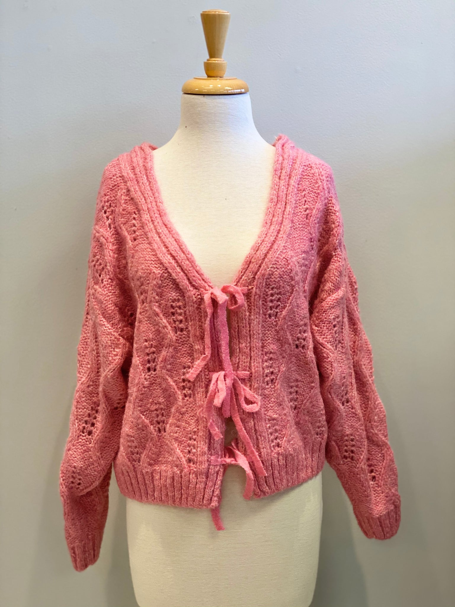 No Brainer Ribbon Cardi