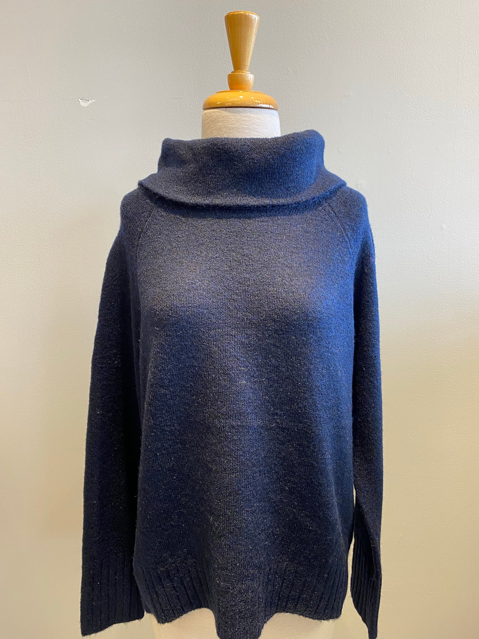 RD International Navy Wool Cowl Neck - Showroom56