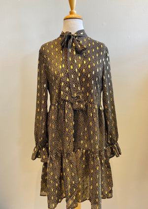 Elan Metallic Fleck Dress - Showroom56