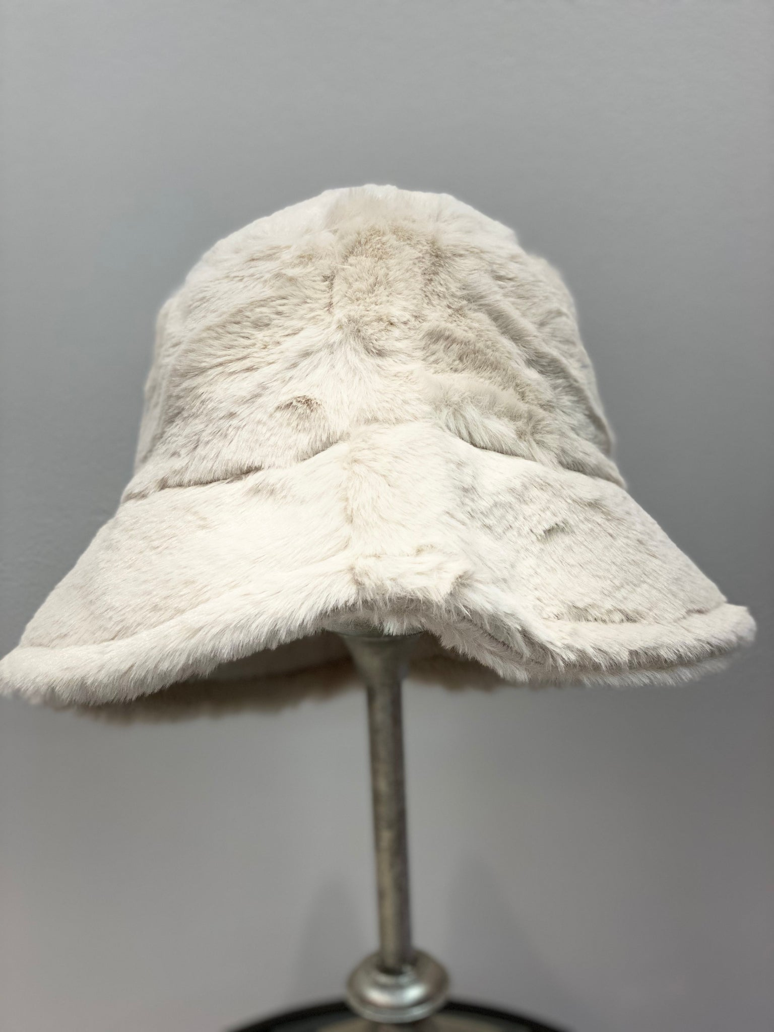 Look By M Faux Fur Bucket Hat - Showroom56