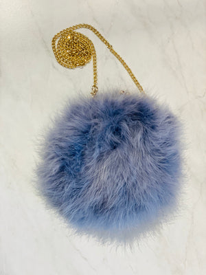 Dana Stein Feather Clutch w/ Long Chain Strap - Showroom56