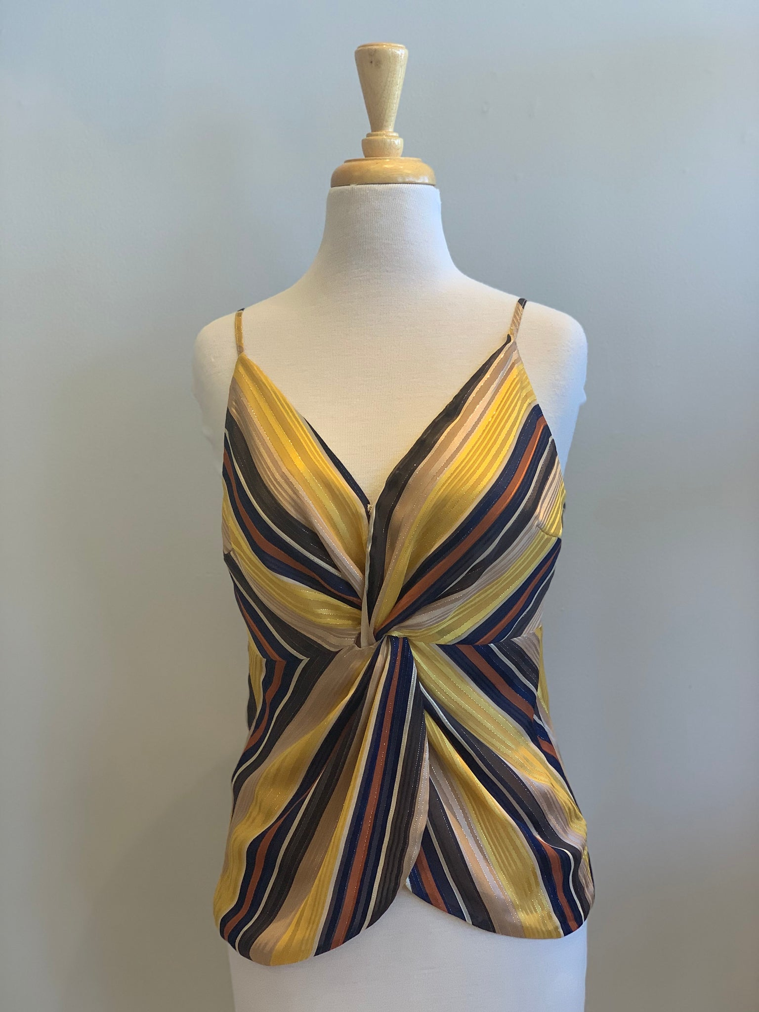 Miss Me Striped Twist Front Cami - Showroom56