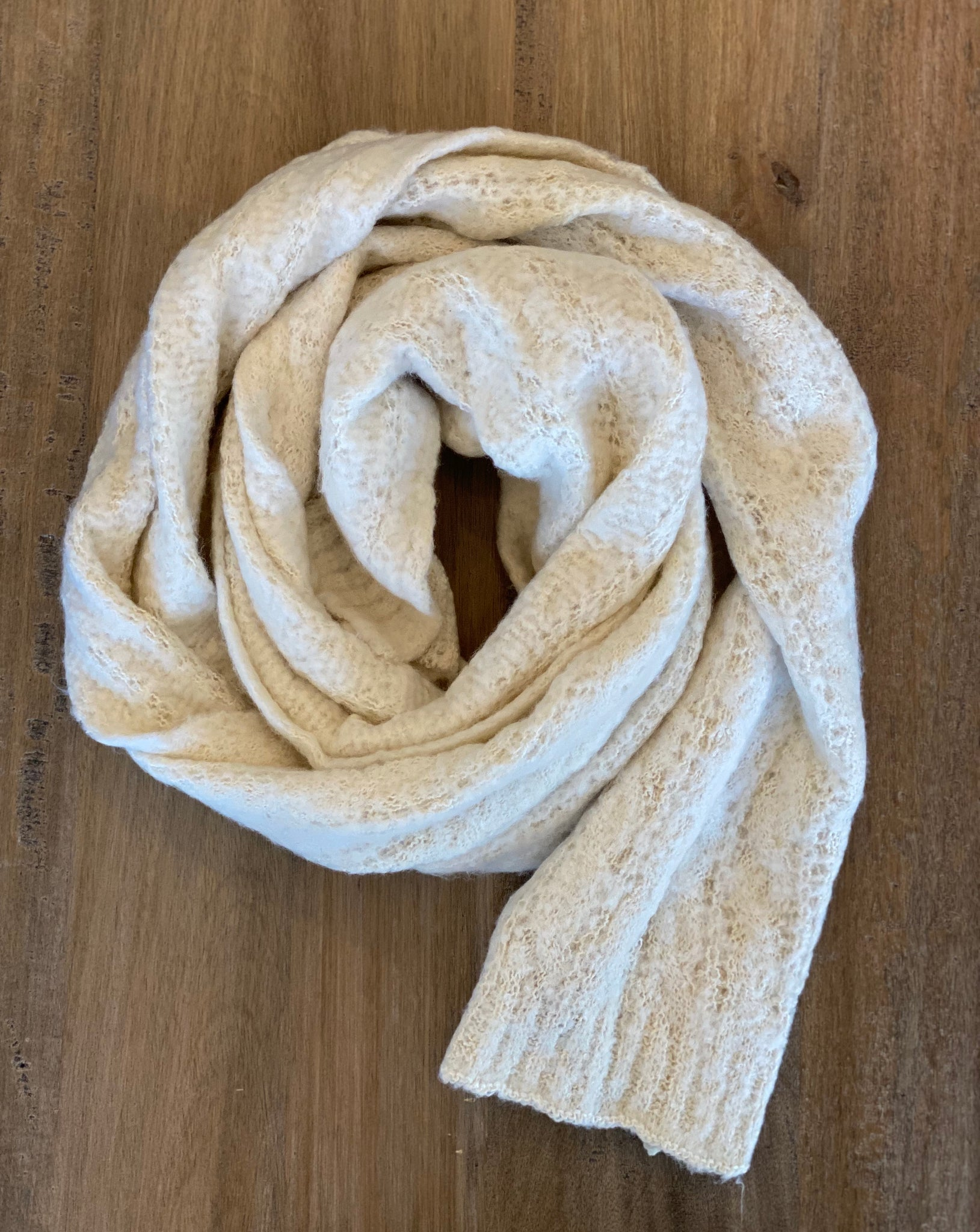 Look By M Crochet Ribbed Scarf - Showroom56