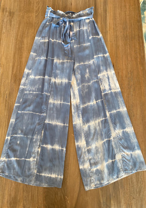 Hem & Thread Tie-Dye Front Split Pants - Showroom56