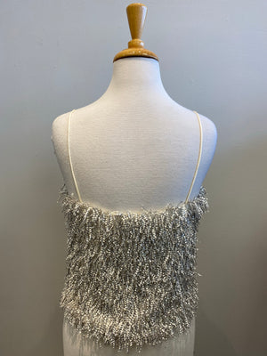 August Apparel Fringed Cami Top - Showroom56