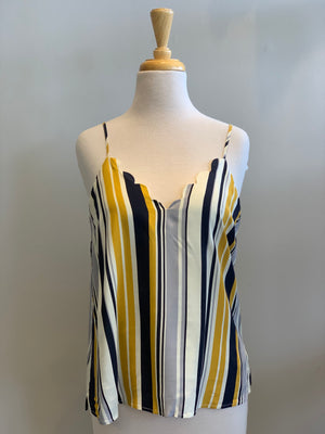 Hem & Thread Scallop Edge Stripe Cami - Showroom56