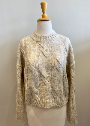 RD International Oatmeal Cable Knit - Showroom56