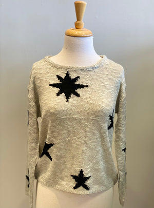 Morning Star Print Sweater