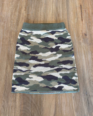 Vintage Havana Camo Double Knit Skirt - Showroom56