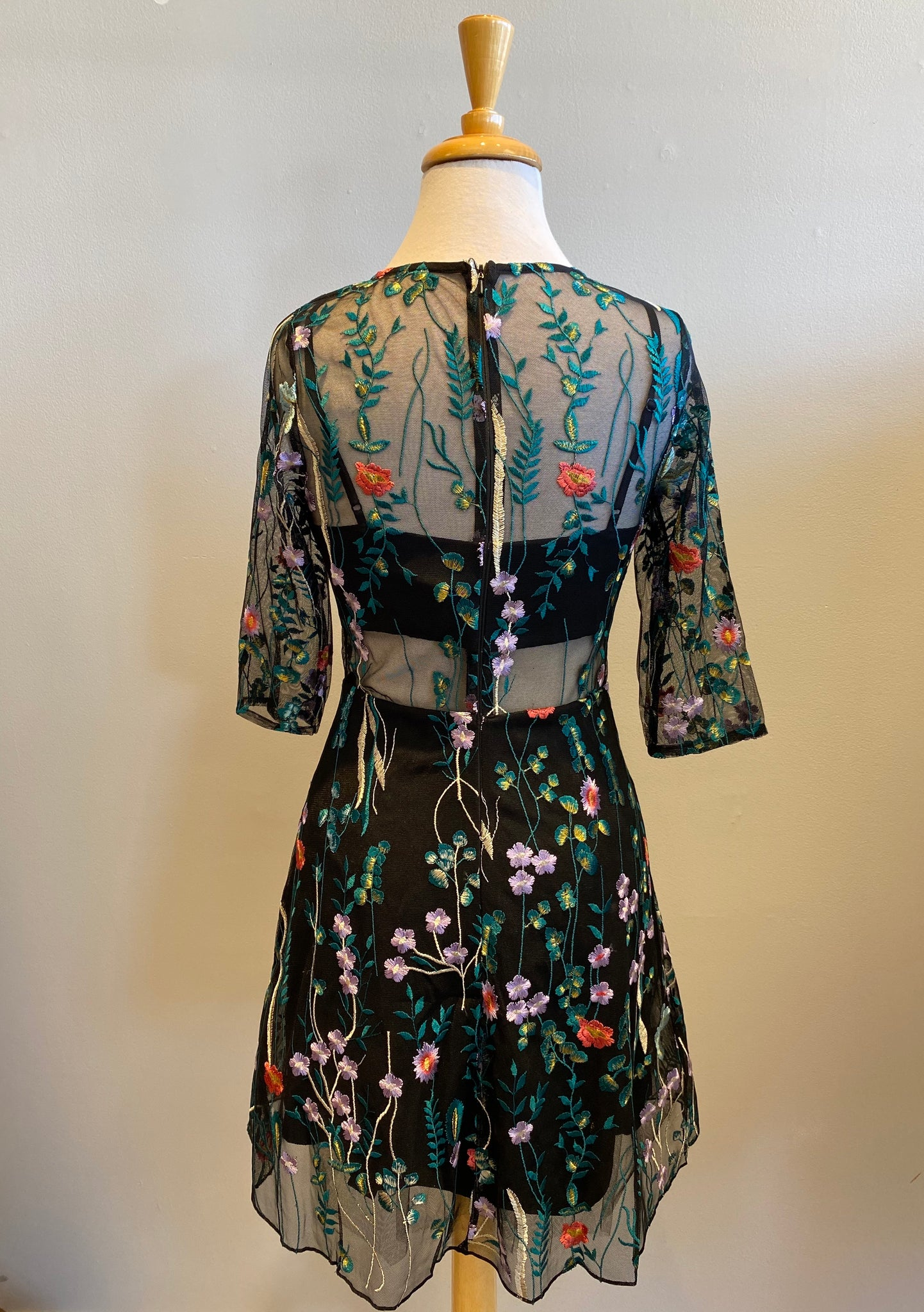 Minuet Embroidered Flower Dress - Showroom56