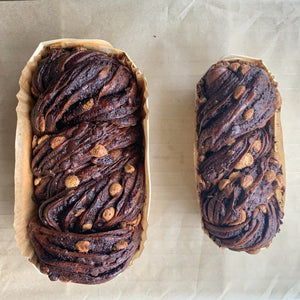Quadruple Chocolate Babka featuring Pump Street Chocolate