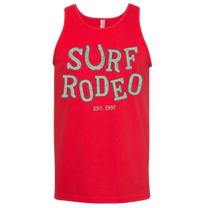 Surf Rodeo Drunk Men's Tank - Red
