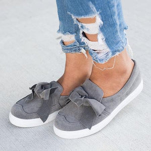 Buy Cheap Women Nubuck Loafers Casual Bowknot Shoes Online - Supsandal
