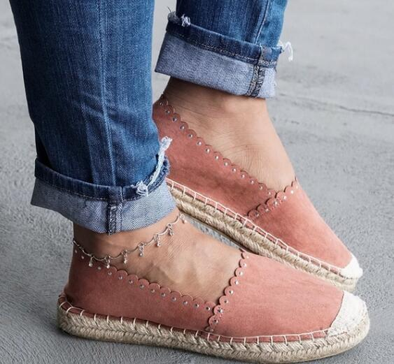 Buy Cheap Straw Flax Canvas Shoes Women Daily Walking Flat Loafers Online - Supsandal