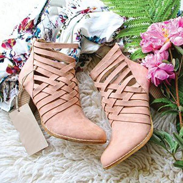 Buy Cheap Sweet Chunky Heel Zipper Boots Online - Supsandal