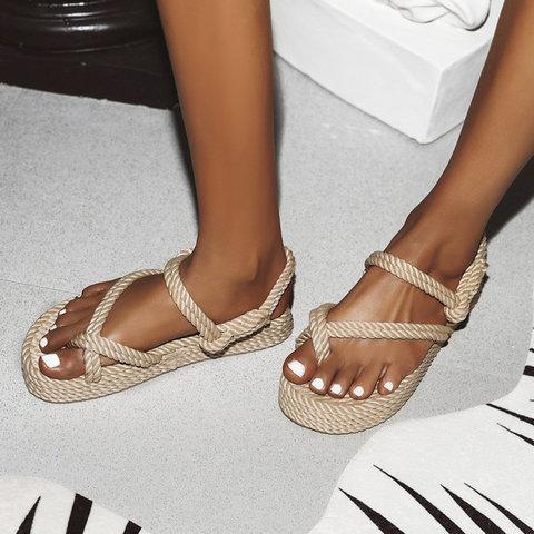 Buy Cheap Women Slide Thong Sandals Open Toe Flat Heel Casual Shoes Online - Supsandal