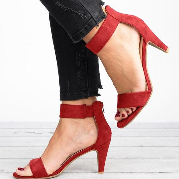 Buy Cheap Women Open Toe With 5CM High Heels Sandals Plus Size Thin Heel Shoes Online - Supsandal