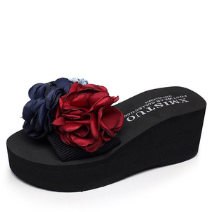 Buy Cheap Women Beautiful Flowers Platform Sandals Beach Flip-flops Slippers Shoes Online - Supsandal
