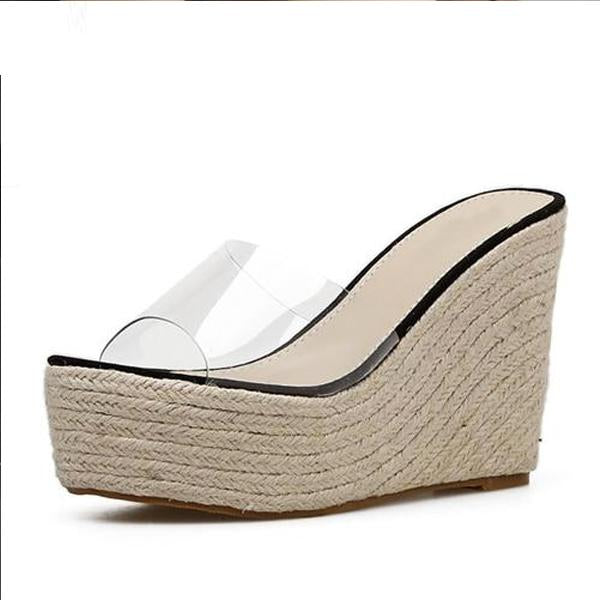 Buy Cheap Women PVC Jelly Sandals Slippers Shoes Casual Sexy Wedges 11.5CM Sandals Online - Supsandal