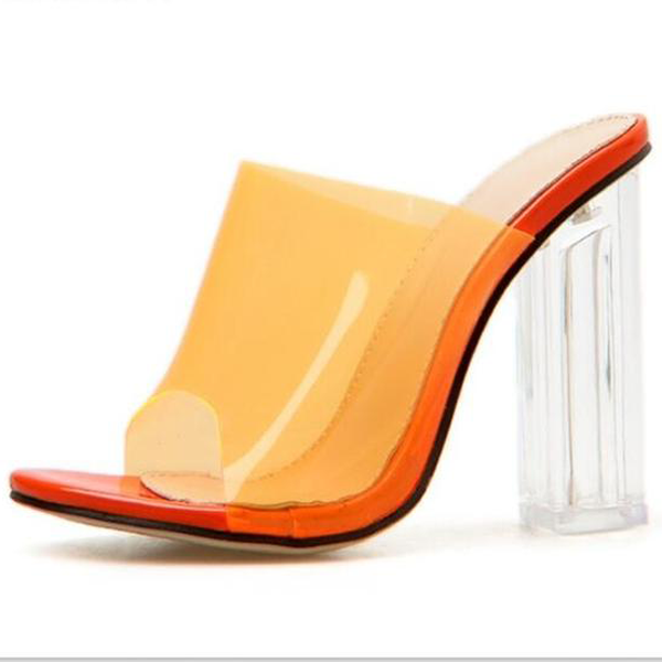 Buy Cheap Women Sandals PVC Jelly Crystal Heel Transparent Women Sexy Clear High Heels Online - Supsandal