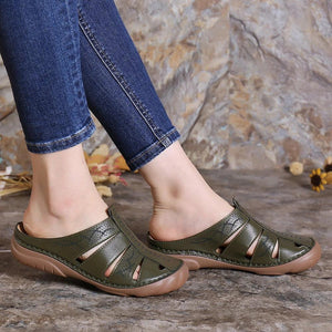 Buy Cheap Women Hollow Out Comfy Round Toe Slip On Summer Casual Sandals Online - Supsandal