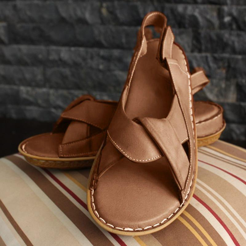 Buy Cheap Women Sandals Open Toe Flat Heel Comfy Soft Sole Casual Sandals Online - Supsandal