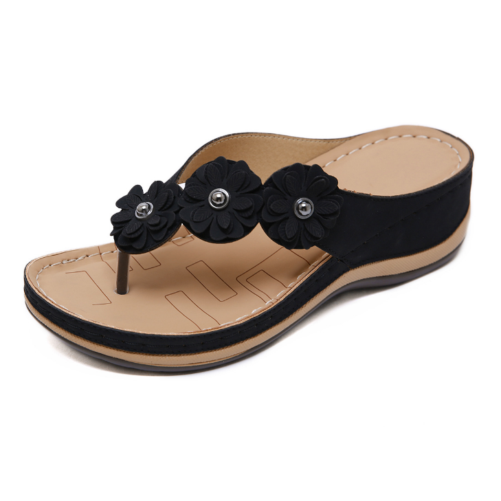 Buy Cheap 2020 New And Fashional Woman Flower Seaside Anti-slip Sandals Online - Supsandal