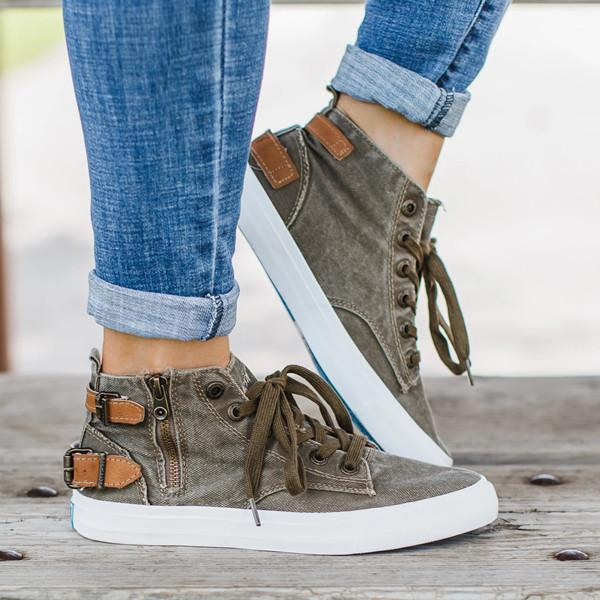 Buy Cheap Women  Mid Calf Canvas Sneakers Online - Supsandal