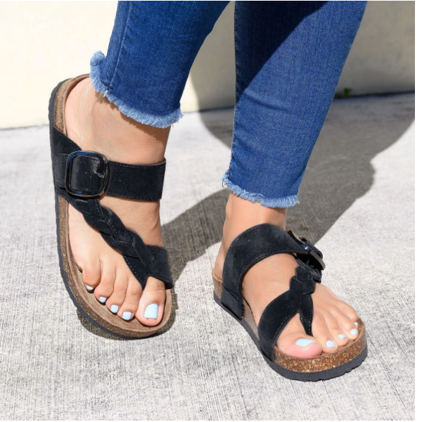 Buy Cheap 2020 New And Fashional Woman Braided Toe Ring Footbed Sandals Online - Supsandal