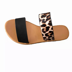 Buy Cheap Woman Casual Leopard Flat Sandals Online - Supsandal
