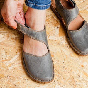 Buy Cheap Vintage Flat Heel Magic Tape Loafers Online - Supsandal