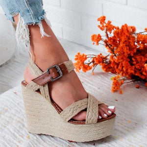 Buy Cheap Wedge Sandals Hemp Straw Sandals Online - Supsandal