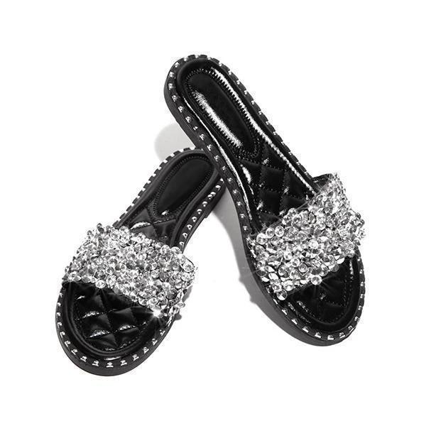 Buy Cheap Casual Beaded Flat Slippers Online - Supsandal
