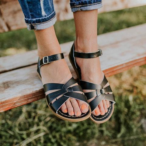 Buy Cheap Summer Flat Heel Adjustable Ankle Strap Water-proof Sandals Online - Supsandal